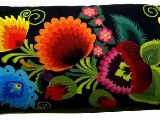 Poduszka ozdobna folk łowickie kwiaty 30x65 (09)