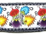 Poduszka ozdobna folk łowickie kwiaty 30x65 (11)