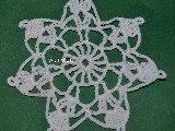 Christmas Star with white crochet cotton thread (jg-2)