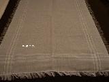 Bieżnik ręcznie tkany lniano-bawełniany szary len 70x120 cm (k-1s)