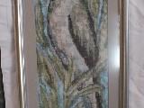 Obraz haftowany - ptak (bw-2)