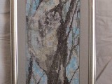 Obraz haftowany - ptak (bw-3)