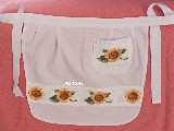 Embroidered apron, Sunflowers