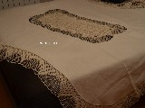 Linen tablecloth - the oval table dia 198 cm and 134 cm + 12 tablemats