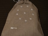 Embroidered linen bag for bread, pattern Kurpie 40x33 (gs-2)