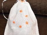 Woreczek lniany haftowany wzór kurpiowski 19x18 (gs-3)