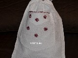 Woreczek lniany haftowany wzór kurpiowski 20x25 (gs-7)
