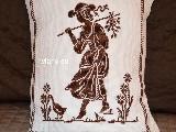 Poszewka na poduszkę, haftowna, wzór mazurski 33x26 (jw-9)