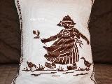 Poszewka na poduszkę, haftowna, wzór mazurski 33x27 (jw-10)