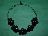 Folk jewelry - Corals, wood in black (hz-6)