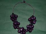 Biżuteria ludowa - Korale drewniane fiolet (hz-8)