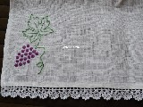 Tea towel with embroidery grapes (kś-1)
