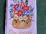 Card and envelope hand-painted (kz-27)