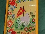 Kartka wielkanocna ręcznie malowana (kz-1)