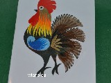 Cut out Lowicz miniature - Lowicz cockerel 6x8 cm (ww-20)