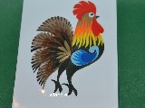 Cut out Lowicz miniature - Lowicz cockerel 6x8 cm (ww-22)
