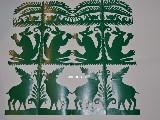 Wycinanka kurpiowska scenka rodzajowa - lasy 27x34 cm (czk-8)
