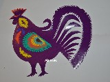 Polish cut out Rooster. 26x21 cm (czk-4)