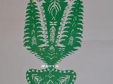 Wycinanka ludowa, kurpiowska - Leluja, drzewko szczęścia, wys. 27 cm (czk-17)