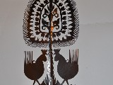 Wycinanka ludowa, kurpiowska - leluja, drzewko szczęścia, wys. 25 cm (czk-20)