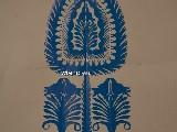 Wycinanka ludowa, kurpiowska - leluja, drzewko szczęścia, wys. 28 cm (czk-30)