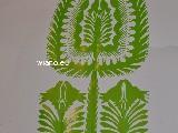 Wycinanka ludowa, kurpiowska - leluja, drzewko szczęścia, wys. 28 cm  (czk-31)