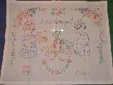 Makatka ludowa haftowana (bawełna) 70x62 - Smacznego (kś-6)