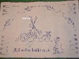 Makatka ludowa haftowana (len) - Myśl wolno, krótko czyń 70x50 (bm-2)