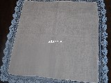 Cotton tablemat with lace 32x32 (czk-1)