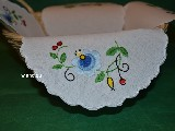 Embroidered tablemat. Kashubian embroidery (zcz-1)