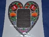 Lowicz cut on. Heart Lowicz. Frame for a photo. 29x33 cm
