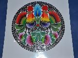 Wycinanka �owicka. Koguty �owickie, �red. 27 cm (ww-11)