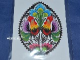 Cut out. Postcard. Azure coloured cocks 10x15 (8)