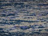 Chodnik bawe�niany, r�cznie tkany,niebieski-ecru-bia�y z domieszk� fioletowego i rudego 65x150