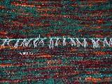 Chodnik bawełniany, ręcznie tkany, bordowy-zielony-pomarańczowy, 65x120