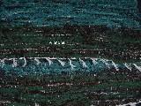 Chodnik bawełniany ręcznie tkany zielono-czarno-morski 50x100