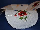 Serwetka haftowana do koszyczka kłosy, chabry i maki 42x42 (kz-1)
