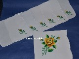 Embroidered cotton tablemats (set of 6+1). Lowicz (zcz-8)