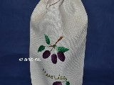 Linen bag for a bottle. Tincture of  plums, 35x16 cm