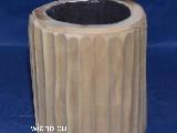 Świecznik z kawałka drewna, rzeźbiony wys. 13 cm (ag-3)
