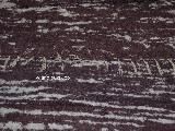 Chodnik bawełniany, ręcznie tkany, wiśniowo-biały 65x120