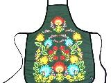 Fartuszek kuchenny z nadrukiem ludowym - kwiaty łowickie (2)