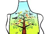 Fartuszek kuchenny z nadrukiem ludowym - ptaki (5)