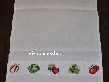 Embroideried linen tea-towel. Vegetables. 70x44 cm (bw-3)