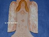 Rzeźba ludowa - Aniołek karpacki wys. 30 cm