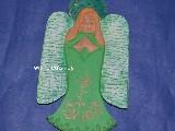 Rzeźba ludowa - Aniołek karpacki wys. 30 cm (ag-3)