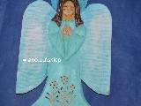 Rzeźba ludowa - Aniołek karpacki wys. 30 cm (ag-6)
