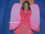 Folk Sculpture - Angel Carpathian height 30 cm (ag-7)