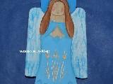 Rzeźba ludowa - Aniołek karpacki wys. 20 cm (ag-10)