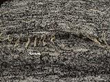 Chodnik bawełniany, ręcznie tkany, czarno-biały 65x150